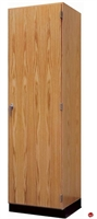 "Picture of DEVA 84""H Single Door Chemical Resistant Wood Storage Cabinet"