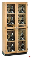 Picture of DEVA Double Door Glass Microscope Charger Storage Cabinet