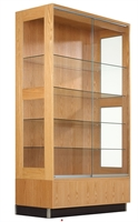 "Picture of DEVA 48"" Veneer Glass Door Display Storage Cabinet"