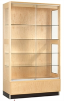 "Picture of DEVA 48""W Glass Door Display Storage Cabinet"