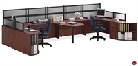 Picture of COPTI 2 Person U Shape Office Desk Cubicle Workstation