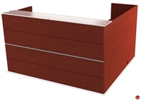 Picture of COPTI Veneer L Shape Reception Desk Workstation