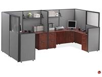 Picture of COPTI 2 Person L Shape Office Cubicle Workstation