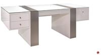 Picture of COX Contemporary White Glass Top Desk