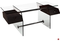 Picture of COX Contemporary Glass Top Table, Steel Base