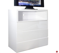 Picture of COX Contemporary White 3 Drawer TV Chest