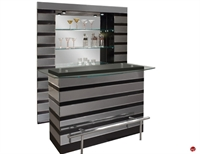 Picture of COX Contemporary Glass Top Bar Counter with Wall Unit