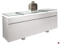 Picture of COX Contemporary Glass Top Storage Credenza