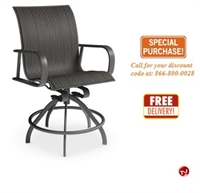 Picture of Homecrest Kashton Aluminum Outdoor Swivel Rocker Barstool Sling Chair
