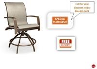 Picture of Homecrest Mirage Aluminum Outdoor Sling Swivel Rocker Stool Chair