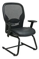 Picture of Ergonomic Sled Base Mesh Guest Visitor Chair with Arms