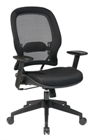 Picture of Ergomonic Mid Back Office Mesh Chair with Adjustable Lumbar Support