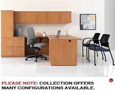 "Picture of 72"" L Shape Office Desk Workstation with Wall Mount Storage"