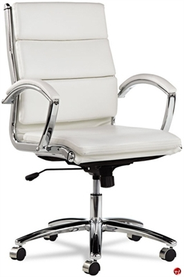 Picture of Contemporary Mid Back White Office Conference Chair