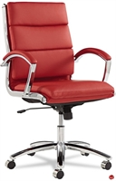 Picture of Contemporary Mid Back Red Office Conference Chair