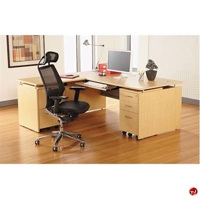 "Picture of 72"" L Shape Home Office Desk Computer Workstation"