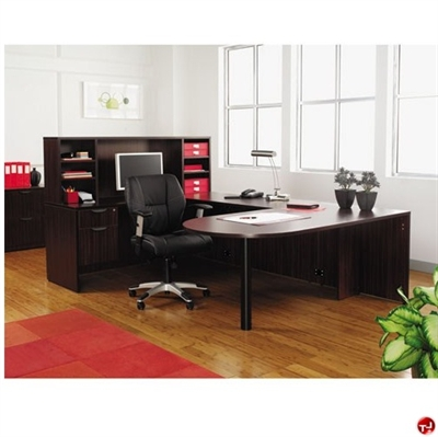 "Picture of 72"" U Shape D Top Office Desk Workstation with Overhead Storage"
