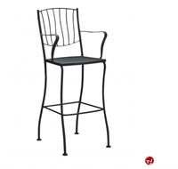 Picture of GRID Wrought Iron Outdoor Arm Barstool