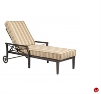 Picture of GRID Outdoor Aluminum Adjustable Chaise Lounge with Padded Cushion