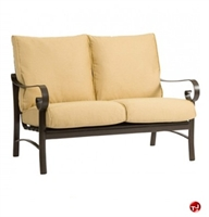Picture of GRID Outdoor Aluminum Padded Cushion 2 Seat Loveseat Sofa