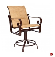 Picture of GRID Outdoor Aluminum Padded Swivel Barstool Arm Chair