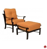 Picture of GRID Outdoor Aluminum Thick Cushion Lounge Arm Chair with Ottoman