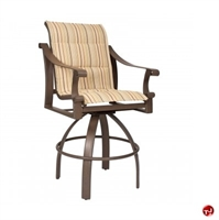 Picture of GRID Outdoor Aluminum Padded Swivel Barstool Chair
