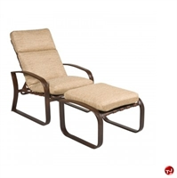 Picture of GRID Outdoor Aluminum Thick Cushion Adjustable Lounge Chair with Ottoman