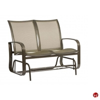 Picture of GRID Outdoor Aluminum Mesh 2 Seat Loveseat Glider Chair