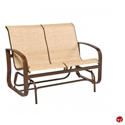 Picture of GRID Outdoor Aluminum 2 Seat Loveseat Glider Chair