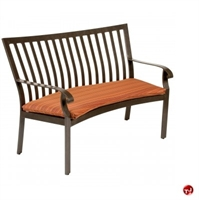 Picture of GRID Outdoor Aluminum 2 Seat Bench with Seat Cushion