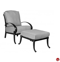 Picture of GRID Outdoor Aluminum Thick Cushion Lounge Chair with Ottoman