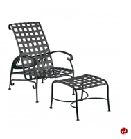 Picture of GRID Outdoor Aluminum Adjustable Lounge Strap Chair with Ottoman