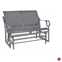 Picture of GRID Outdoor Aluminum 2 Seat Loveseat Sling Glider Chair