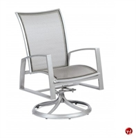Picture of GRID Outdoor Aluminum Mesh Swivel Rocking Dining Chair