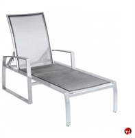 Picture of GRID Outdoor Aluminum Mesh Adjustable Chaise Lounge