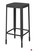 Picture of ICF 4A Aluminum Dining Cafe Backless Barstool Chair