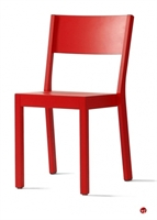 Picture of ICF Akustik Contemporary Dining Cafe Wood Armless Stack Chair