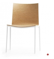 Picture of ICF Archal Aluminum Contemporary Guest Visitor Wood Armless Chair