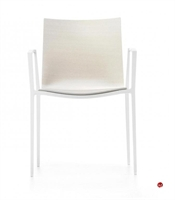 Picture of ICF Archal Aluminum Contemporary Guest Visitor Wood Arm Chair