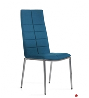 Picture of ICF Archal Aluminum Contemporary High Back Armless Guest Chair with Quilted Pattern