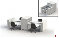 Picture of PEBLO Cluster of 4 Person Mobile Folding Office Cubicle Desk Workstation