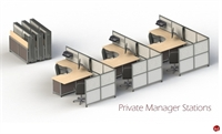Picture of PEBLO Mobile Portable Folding 3 Station Cubicle Desk Workstation