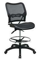Picture of Office Star 13-77N30D Ergonomic Multifunction AirGrid Mesh Drafting Chair with Adjustable Footring
