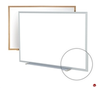 Picture of 4' x 10' Dry Erase Magentic Wood Trim Whiteboard