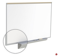 Picture of 4' x 12' Dry Erase Magentic Aluminum Trim Markerboard with Maprail