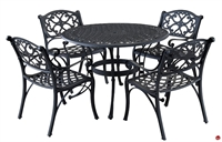 Picture of Flexsteel Del Ray Outdoor Wrought Iron Round Table with Chair Set