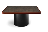 "Picture of Ovation 42"" Square Conference Table with Drum Base"