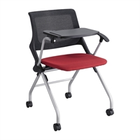 Picture of Training Mesh Back Nesting Tablet Arm Chair