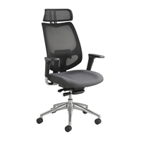Picture of Ergonomic High Back Mesh Office Task Arm Chair with Headrest